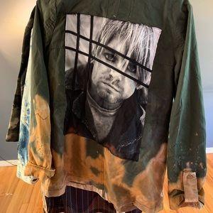 Custom Curt Cobain Acid Wash field jacket